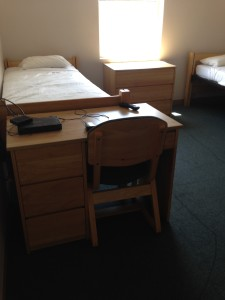 Dorm Room - Bed and Desk