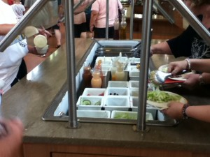 La Roche College cafeteria salad bar