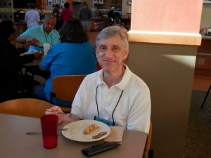 2013 July 25 - John Colletta at breakfast