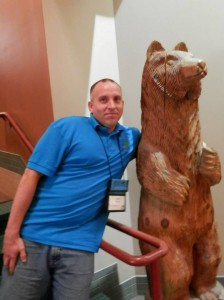 2013 July 25 - Bridging the Gap - Nate Machula and bear