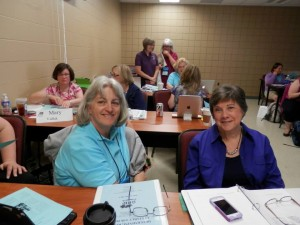 2013 July 25 - GPS course - Patti Hobbs - Nancy Thomas in GPS