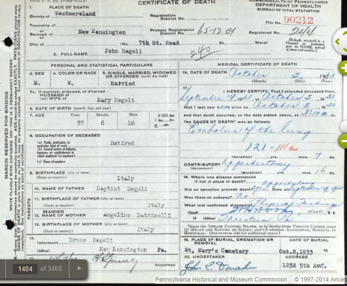 pennsylvania death records – next batch accessible | genealogical ...