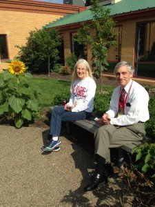 Break time with Barbara Ball and John Colletta